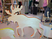 Beautiful MDF Material Moose Sculpture For Christmas Decoration Sculpure