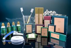 Color Paper Box Amenity Kit for hotel resort/Factory Price bathroom kits/branded bath kit for hotel