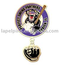 Perfect Swing Panthers Baseball Pin