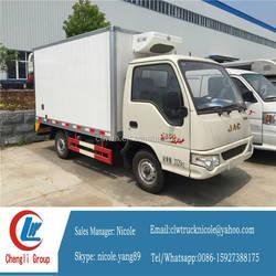 JAC small refrigerator box truck cooling room van truck