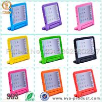 Educational promotion shockproof handle case for ipad 2, stand case for ipad 3, for Apple ipad case for school students