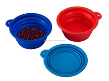 Set of 3 Silicone Pet Expandable/Collapsible Travel Bowl