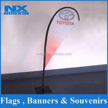wholesale high quality style teardrop beach flag with aluminium pole