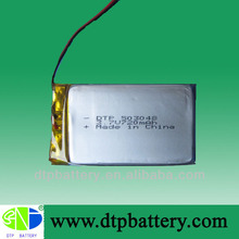 DATA POWER 3.7v rechargeable battery 503048 with 720mah capacity