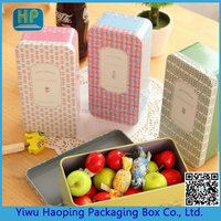 Candy square tin box candy storage empty case candy gift square can candy metal tin boxes candy empty square container