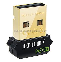 EDUP EP-N8508GS Mini USB 2.0 150Mbps 802.11 b/g/n Wi-Fi Wireless Network Adapter for Rasbperry PI - Black