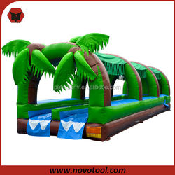 "Promotion Low Price 33' x 9' x 10' Dimension 24'6"" Length Slide 250 Pounds Loading 3-Zones Jungle Jumper Bounce House"