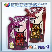 CUSTOMIZED reusable food/juice/sauce spout pouch/packaging