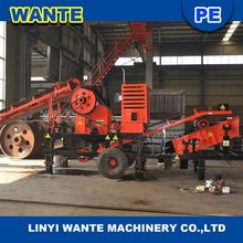 Widely used portable small diesel engine jaw crusher with best services