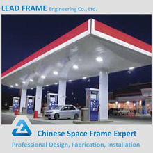 Security and Reliable light frame gas station canopy