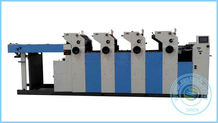 High production high speed four color double side web offset printing machine