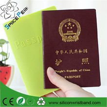2015 hot sell high quality Travel Wholesale Silicone passport cover, passport holder protector