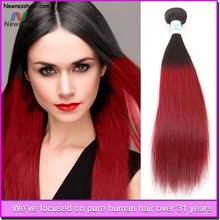 ombre colored hot sale beautiful brazilian hair weave hot sale beauty hair