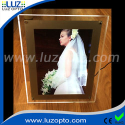 acrylic light up picture frame,photo frame with light,lights frame light box