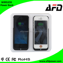 Qi wireless charger dual transmitter mobile battery wireless charger