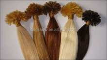 100% virgin brazlian hair/best selling keratin hair extension I tip U tip Nail tip