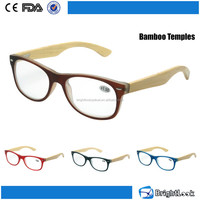 2015 design optics wood readers fashion design bamboo reading glasses with case (BRP3054)