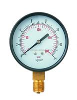 precisely steel case pressure gauge