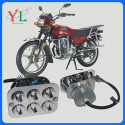 Factory Price 18w Square without glass 6 Big Light Motorcycle LED Head light