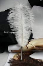 Beautiful fashion ostrich Feather quill pen, high quality ostrich feather wholesale