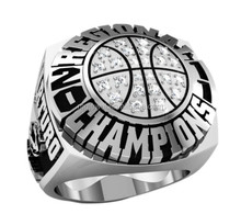 League Basketball Championship rings with silver plating