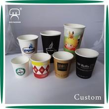 Custom plastic paper cup disposable pla paper cup