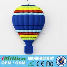 customized hot air ballooning shaped usb flash pen drivers 8GB