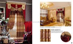 Luxury embroidered pattern window curtain