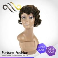 Fashionable Price Cutting Bright And Smooth Custom Jual Lace Hair Funmi Pvc Wig Short