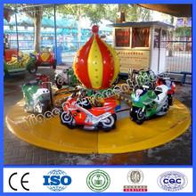 Amusement park motorbike racing game ride