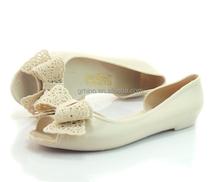Novo das mulheres à prova d ' água belo pvc geléia sandália sapatos