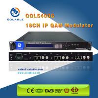 cable tv digital headend 16 channel Mux-scrambler ip qam modulator