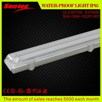 South Asia double tube IP65 T8 fluorescent fitting
