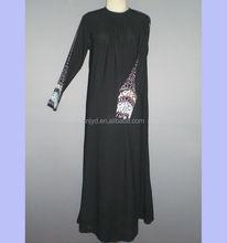 Latest design muslim dress black abaya MR-1036#