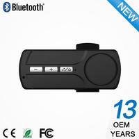 2015 ODM/OEM music mini bluetooth dual bluetooth car kit sun visor clip wireless standby handsfree speaker phone