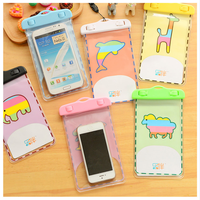 New high quality pvc Cartoon design waterproof phone bag mobile pouch
