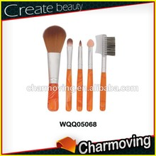 Charmoving Synthetic Hair 5pcs Makeup Set With Acrylic Handle