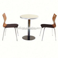modern round dinner set metal fashion coffee table