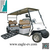 Electric handicapped car, with hydraulic ramp for wheelchair