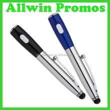 Promotional Stylus Pen Light with logo