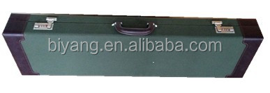 green canvans and brown pu leather gun case
