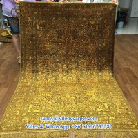 royal antique washed 4x6ft golden silk Chinese handmade carpet