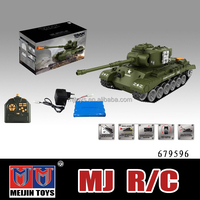 1:18 Full metal rc tank 18 channel musical shoot bullet tank toy