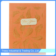 High quality kraft folded paper greeting card in paper crafts