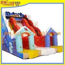 KULE 10x6x8m high slide_commercial inflatable slide/Tall Double Lane Super Slide