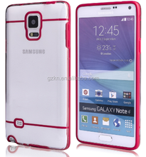 Full protective ultraslim rugged TPU case for Samsung Galaxy Note 4 clear crystal skin