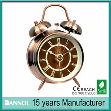 Roman Number Twin Bell Alarm antique brass table clock/table watch/doubledesktop watch