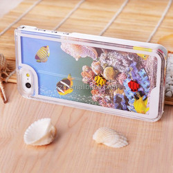2015 3d swimming fish phone case for iphone 6 case with sea world drop oil