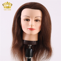 wholesale 100% human hair cheap mannequin head for cutting hair practice