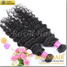 100% European remy virgine human hair deep wave